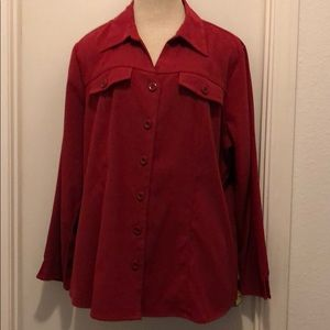 Red moleskin shirt long sleeves